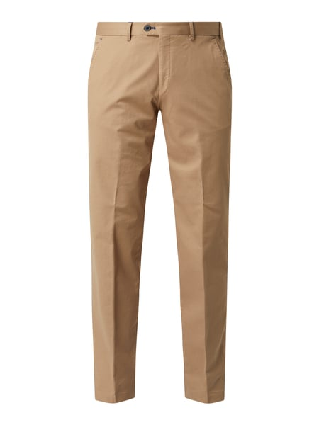 Hiltl Regular Fit Chino mit Stretch-Anteil Modell 'Porter' Beige - 1