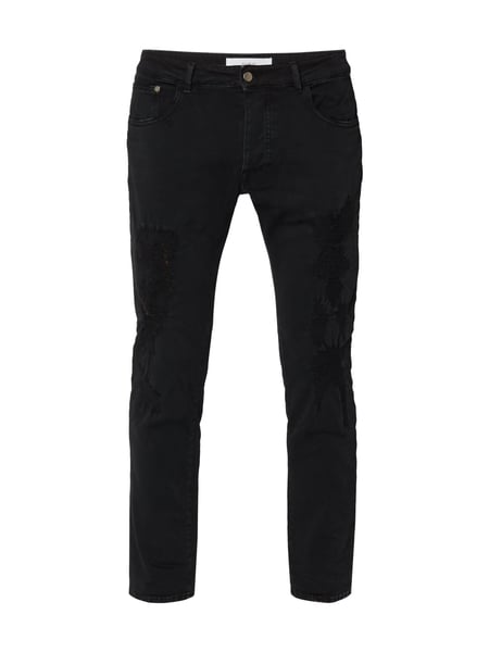 House of Paul Rosen 5-Pocket-Jeans im Destroyed Look Schwarz