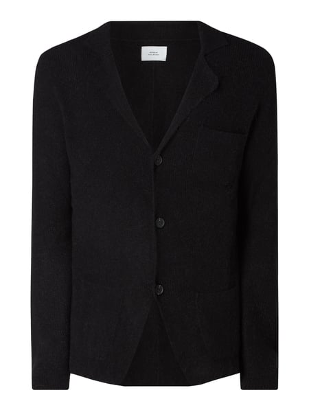 House of Paul Rosen Cardigan mit Reverskragen Schwarz - 1