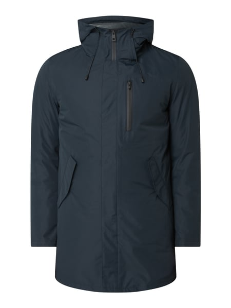 House of Paul Rosen Parka mit Kapuze Blau - 1
