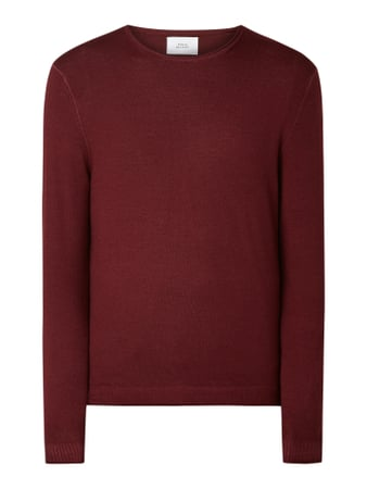 House of Paul Rosen Pullover aus reiner Wolle Rot - 1