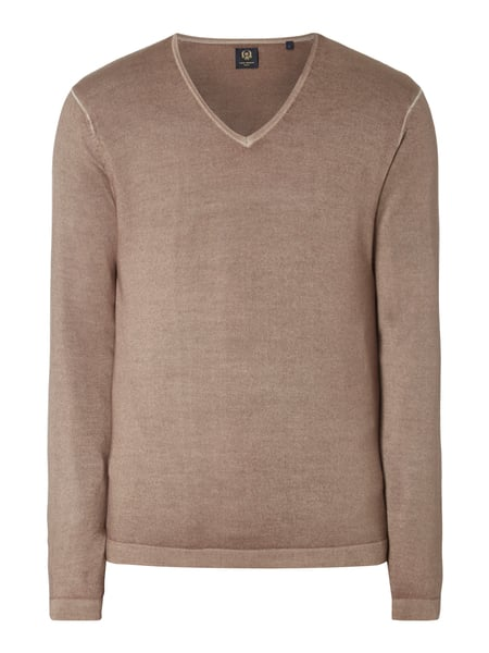 House of Paul Rosen Pullover aus reiner Wolle im Washed Out Look Taupe