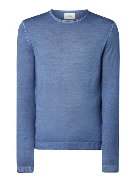 House of Paul Rosen Pullover aus reiner Wolle Blau - 1