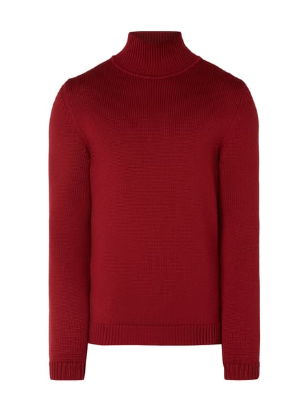 House of Paul Rosen Pullover aus Schurwolle mit Turtleneck Rot - 1