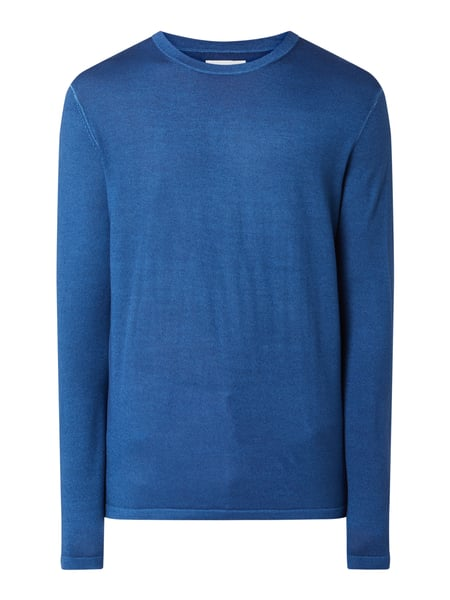House of Paul Rosen Pullover aus Wolle Blau - 1