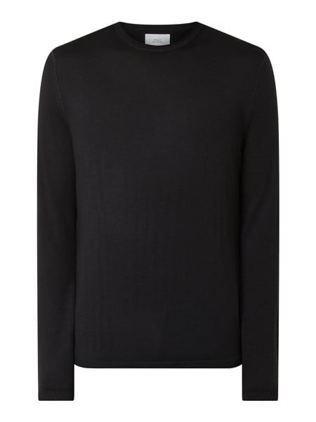 House of Paul Rosen Pullover aus Wolle Schwarz - 1