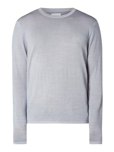 House of Paul Rosen Pullover aus Wolle Silber - 1