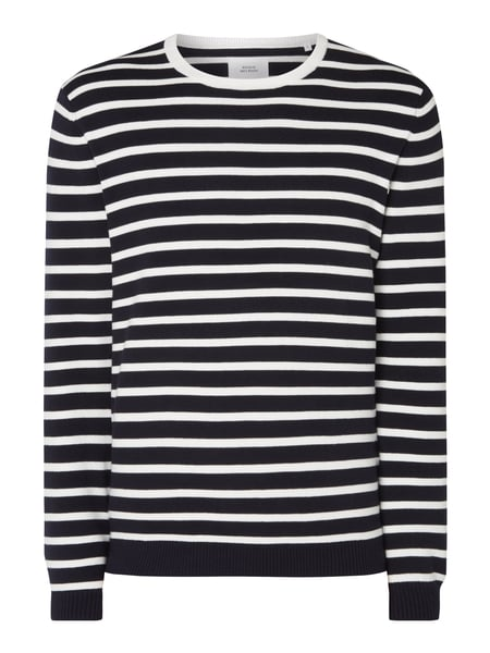 House of Paul Rosen Pullover mit Streifenmuster Marineblau