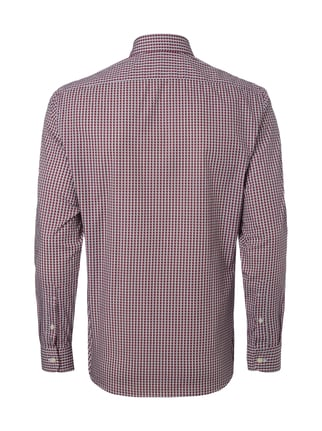 Paul Rosen Men Regular Fit Freizeithemd mit Allover-Muster Bordeaux Rot - 1