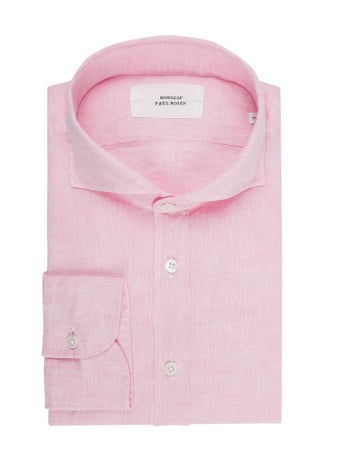 House of Paul Rosen Regular Fit Leinenhemd Rosa - 1