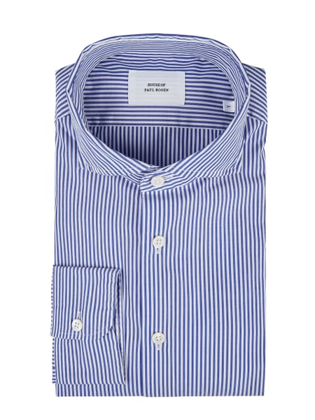 House of Paul Rosen Slim Fit Freizeithemd aus Baumwolle Blau - 1