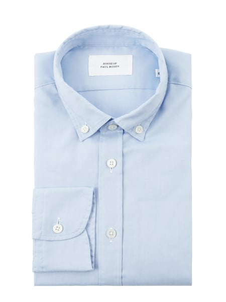 House of Paul Rosen Slim Fit Freizeithemd aus Oxford Blau - 1