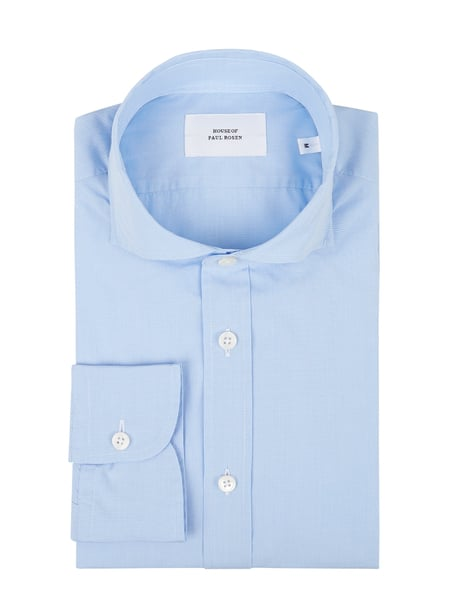 House of Paul Rosen Slim Fit Freizeithemd aus Soft Oxford Blau - 1