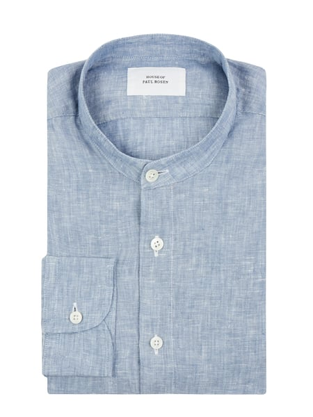 House of Paul Rosen Slim Fit Leinenhemd Blau - 1