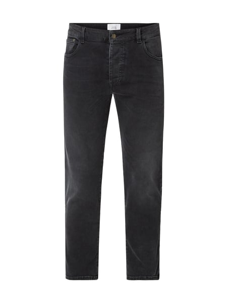House of Paul Rosen Straight Fit Jeans im Used Look Grau / Schwarz - 1