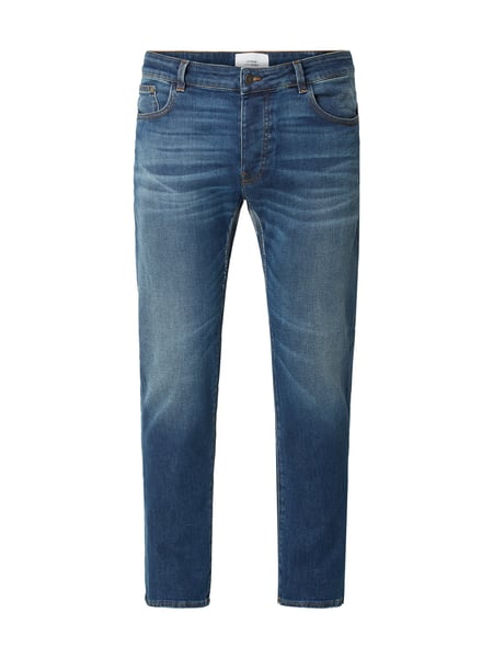 House of Paul Rosen Straight Fit Jeans im Used Look Blau / Türkis - 1
