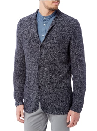 Paul Rosen Men Strickjacke in Melangeoptik Blau meliert - 1