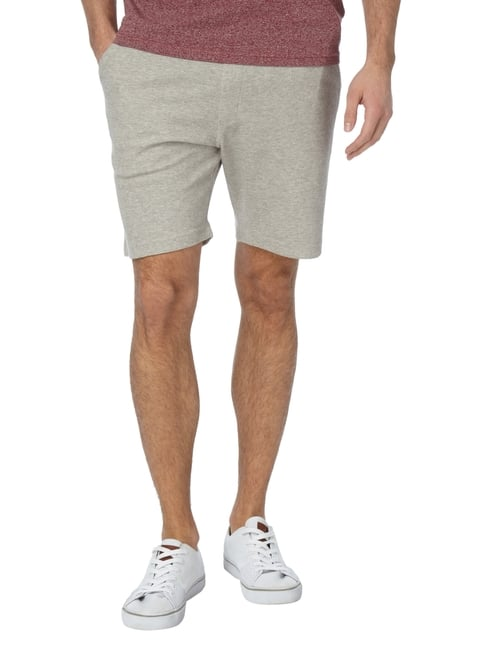 Paul Rosen Men Sweatbermudas in Melangeoptik Taupe meliert - 1