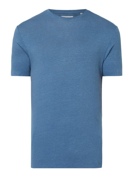 House of Paul Rosen T-Shirt aus Leinen-Elasthan-Mix Blau / Türkis - 1