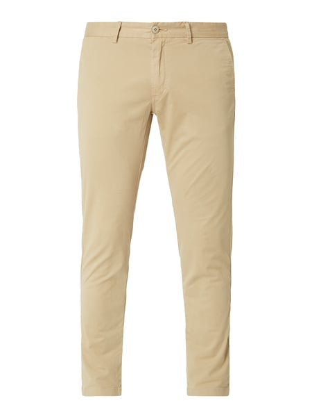 House of Paul Rosen Tapered Fit Chino mit Stretch-Anteil Beige - 1