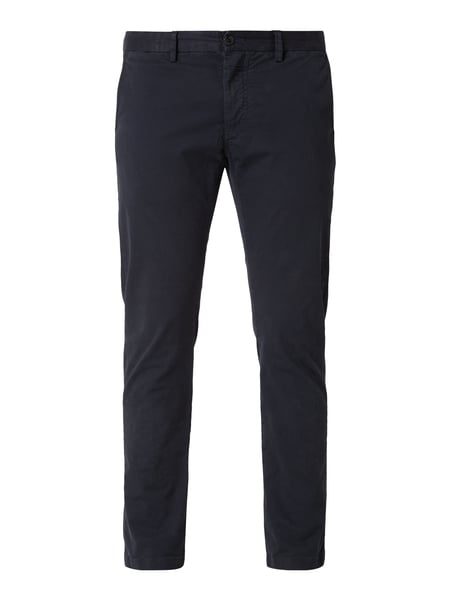 House of Paul Rosen Tapered Fit Chino mit Stretch-Anteil Blau / Türkis - 1