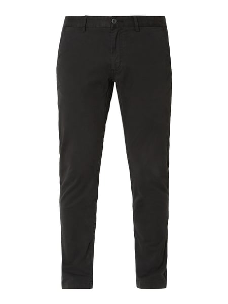 House of Paul Rosen Tapered Fit Chino mit Stretch-Anteil Schwarz - 1
