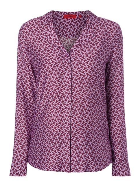 Bluse mit Allover-Muster Lila - 1