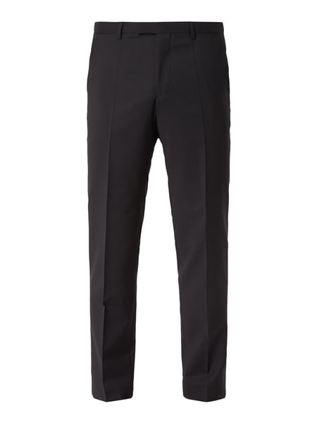 Hugo C-sharp - Business-Hose aus reiner Schurwolle Schwarz