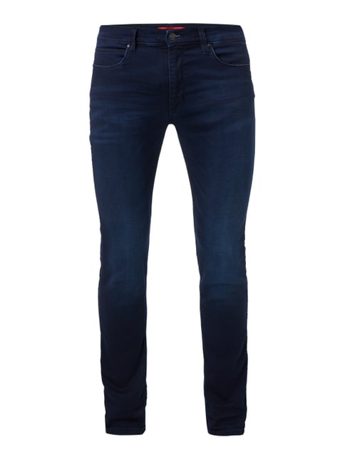 Light Stone Washed Slim Fit Jeans Blau / Türkis - 1