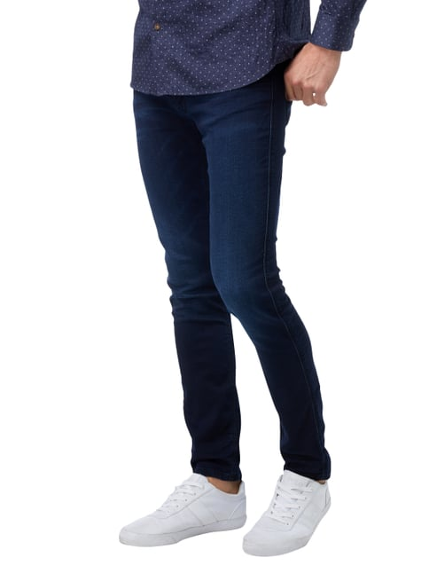 Hugo Light Stone Washed Slim Fit Jeans Blau - 1
