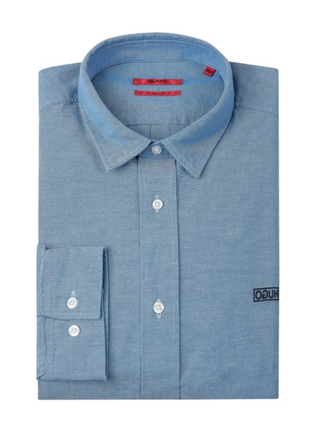 Hugo Regular Fit Business-Hemd aus Oxford Modell 'Evart' Blau - 1