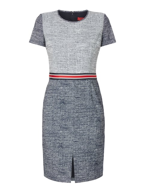 Regular Fit Kleid mit Taillenpasse Blau / Türkis - 1