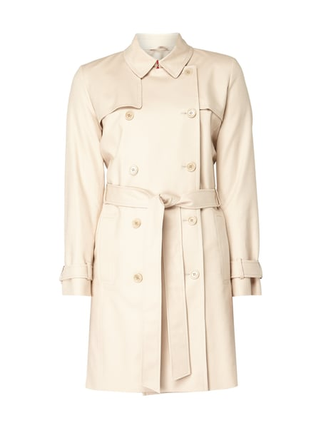 Hugo Makaras - Regular Fit Trenchcoat mit Stretch-Anteil Sand
