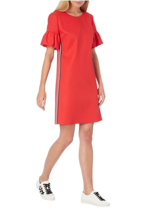 Hugo Relaxed Fit Kleid mit Kontraststreifen in Rot - 1