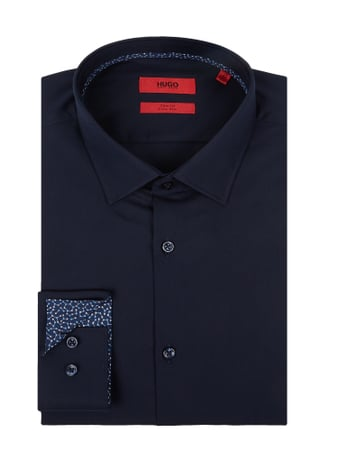 Hugo Slim Fit Business-Hemd mit New Kent Kragen Blau / Türkis - 1