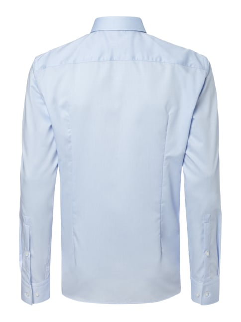 Hugo Slim Fit Business-Hemd mit Webmuster Bleu - 1