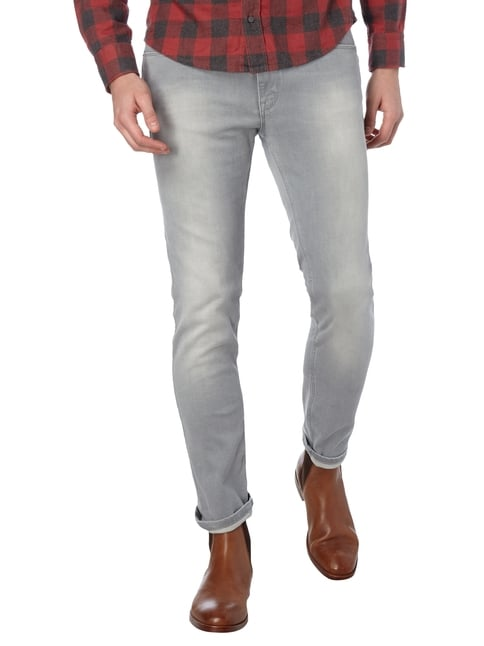 Hugo Stone Washed 5-Pocket-Jeans Hellgrau - 1