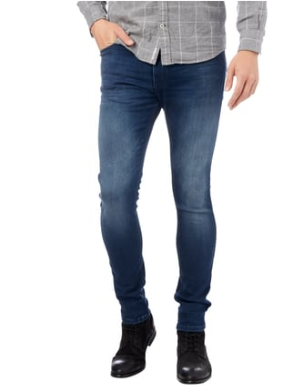 Hugo Stone Washed Skinny Fit 5-Pocket-Jeans Blau - 1