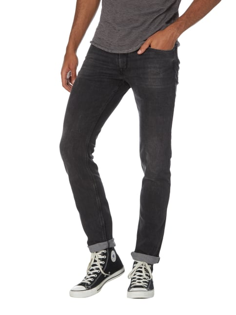 Hugo Stone Washed Slim Fit Jeans Dunkelgrau - 1