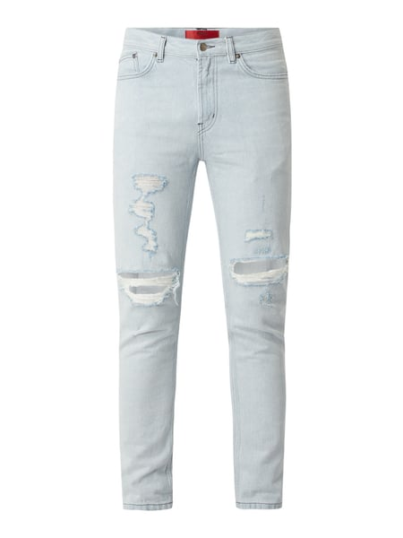 HUGO Tapered Fit Jeans aus Baumwolle Modell '332' Blau - 1