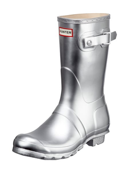 official photos 2ee59 574cb Hunter – Gummistiefel in Metallicoptik – Silber