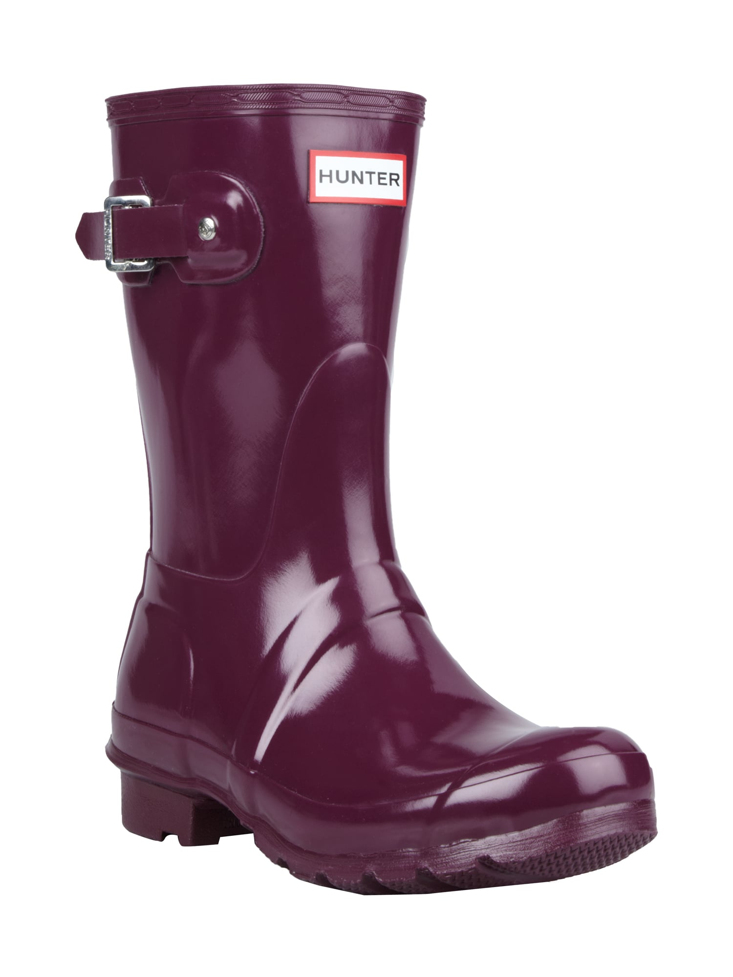 finest selection 5b223 14c92 HUNTER Gummistiefel mit dekorativer Schnalle in Rot online ...