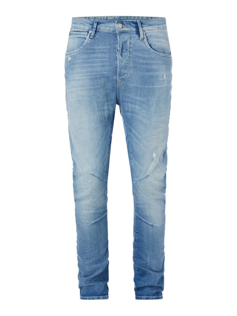 Anti Fit 5-Pocket-Jeans im Destroyed Look Blau / Türkis - 1