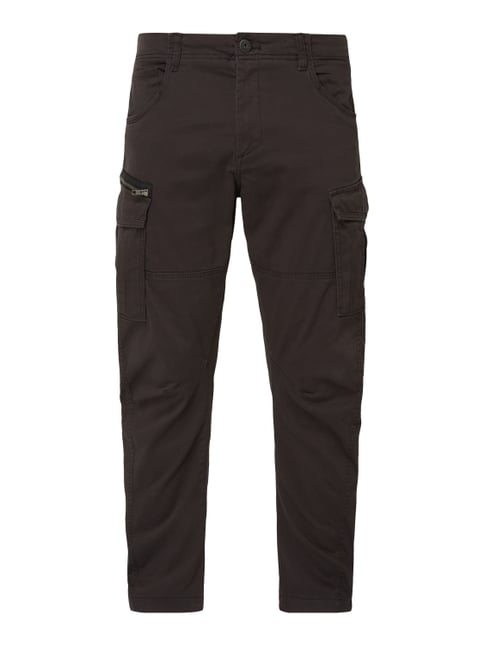Jack   Jones Anti Fit Cargohose mit Zip-Detail Grau   Schwarz ... 32a6bd845f