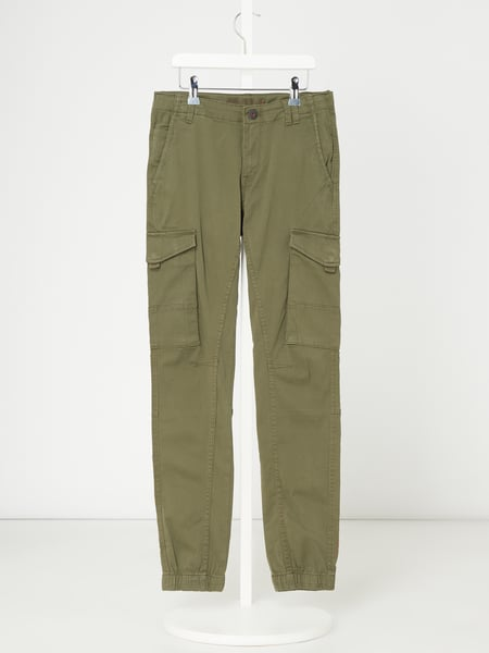 Jack & Jones Cargohose mit Stretch-Anteil Modell 'Paul' Grün - 1