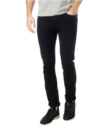 Jack & Jones Coloured Skinny Fit 5-Pocket-Jeans Schwarz - 1