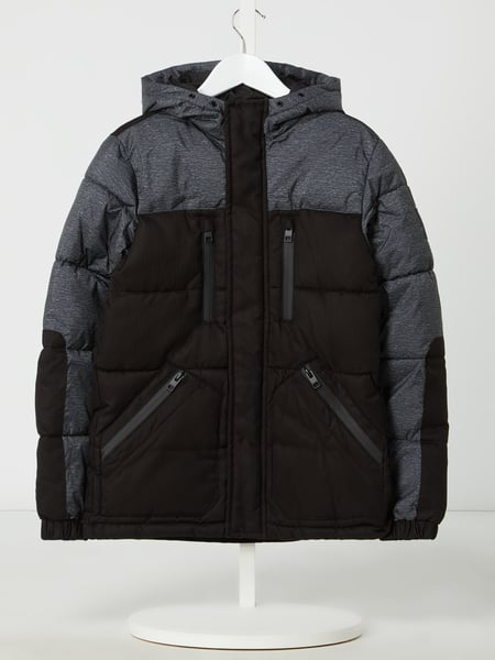 Jack & Jones Gewatteerd jack, model 'Bolt' Zwart - 1