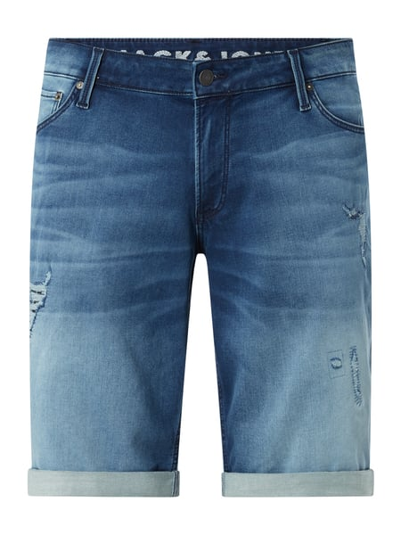 Jack & Jones Plus PLUS SIZE Regular Fit Jeansshorts aus Sweat Denim Modell 'Rick' Blau - 1