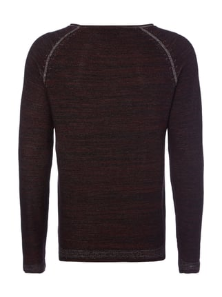 Jack & Jones Pullover in Melangeoptik Bordeaux Rot - 1