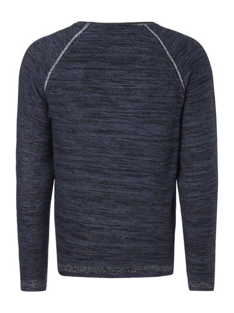 Jack & Jones Pullover in Melangeoptik Marineblau - 1